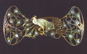 René Lalique, Gioiello-pavone, 1898