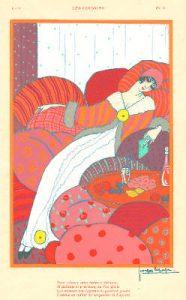 Georges Lepape, Les Coussins, tavola per Modes et Manières d'Aujourd'hui, 1912