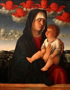 Giovanni Bellini, Madonna dei cherubini rossi, 1490