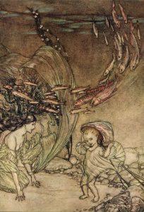 """Arthur Rackham, Illustrazione per """"Undine"""", 1909"""